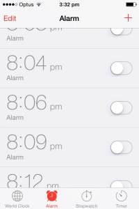 Discretions alarm